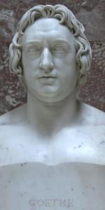 Goethe - 1808 schuf der Bildhauer Tieck in Rom diese idealisierte Gedenkbüste für die Walhalla bei Regensburg
