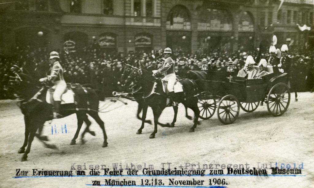 Prinzregent Luitpold und Kaiser Wilhelm II. in der Kaufinger Straße am 12.11.1906