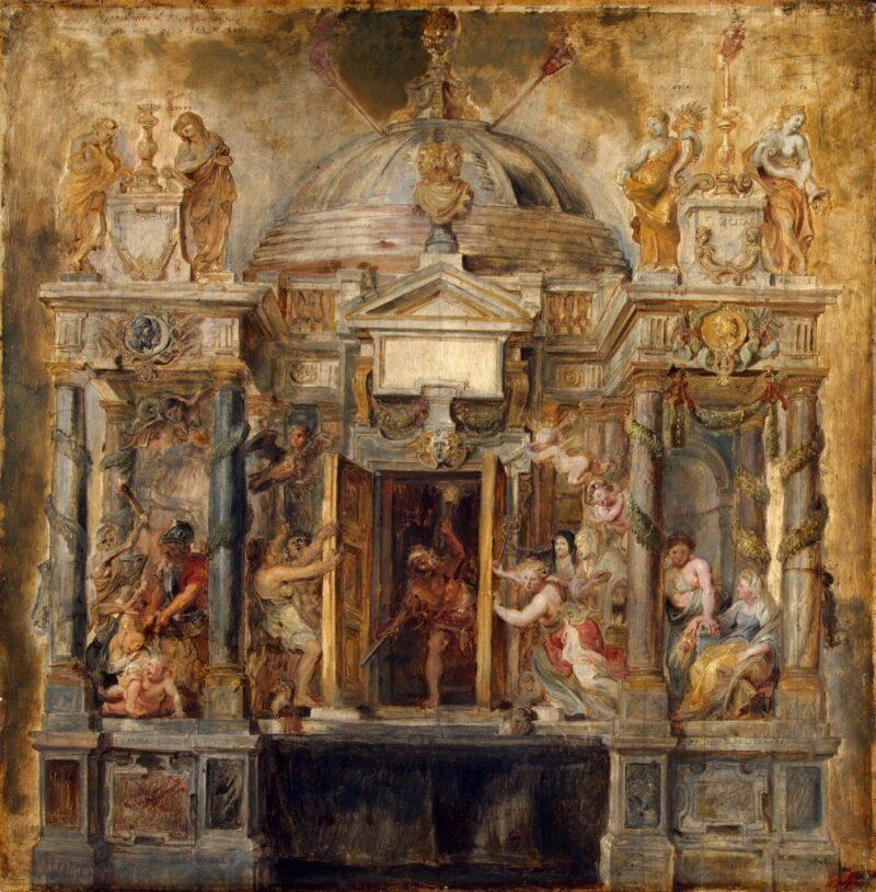 Die Entwufsskizzen für Rubens Festdekorationen werden heute im Eremitage-Museum in St. Petersburg aufbewahrt.
